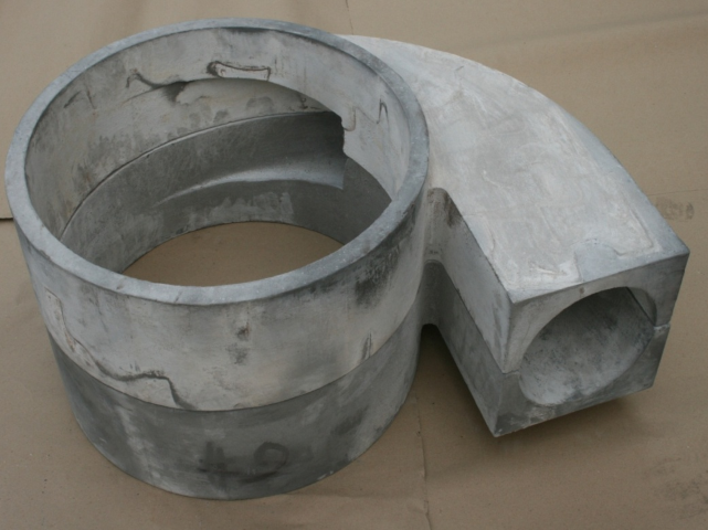 Cast nitride bonded silicon carbide