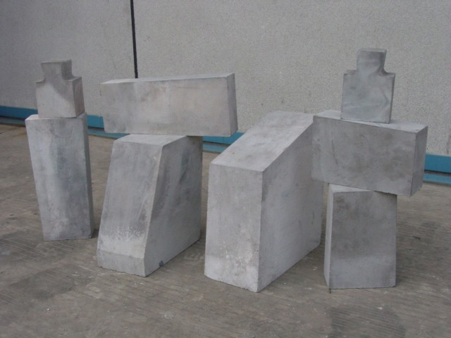 Nitride bonded silicon carbide brick shapes