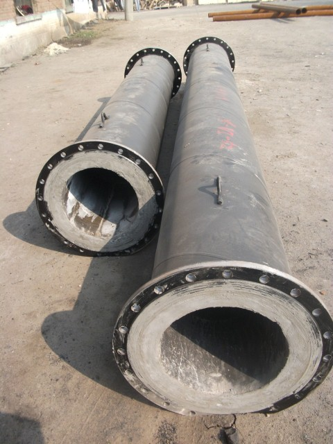 Cast Basalt lined pipe